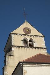 Eglise - Deutsch: Katholische Kirche Saint-Cyr-et-Sainte-Julitte in Volnay im Département Côte-d'Or (Bourgogne-Franche-Comté/Frankreich), Turm