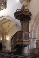 Eglise - Deutsch: Katholische Kirche Saint-Cyr-et-Sainte-Julitte in Volnay im Département Côte-d'Or (Bourgogne-Franche-Comté/Frankreich), Kanzel