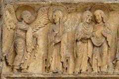 Eglise priorale Sainte-Croix - La Charité-sur-Loire - Église Notre-Dame - Ancienne façade occidentale - Tympan de la Vie de la Vierge: Annonciation, Visitation, Joseph