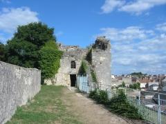 Remparts (restes) - Français:   Les anciens remparts, à La Charité-sur-Loire