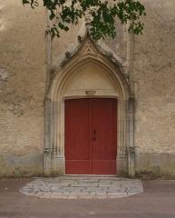 Eglise - Ciez (Nièvre, France) , le portail de l'église.