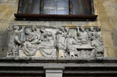 Eglise Saint-Martin (ancienne collégiale) - Nederlands: Collegiale Sint-Martinus van Clamecy, Frankrijk - beeldhouwwerk van het verdwenen doksaal (Lamentatie en Laatste Avondmaal)