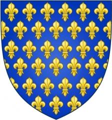 Ancienne abbaye bénédictine Saint-Léonard -  D'azur semé de fleurs de lys d'or.