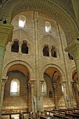 Eglise Saint-Etienne - Deutsch: Saint-Etienne Nevers, Mittelschiff, die drei Geschosse