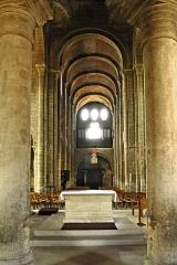 Eglise Saint-Etienne - Deutsch: St.-Etienne Nevers, Aus Chor in Mittelschiff, Empore in Joch 1