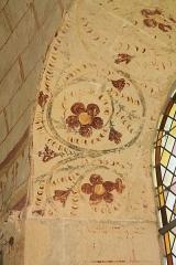 Commanderie de Villemoison - Français:   Détail d\'une peinture murale dans l\'ancienne chapelle.