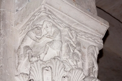 Eglise Saint-Pierre -  Capital sins: Two men coming to blows could represent anger, while a man holding a woman in his arms will represent lust ....