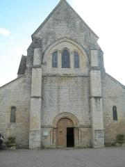 Eglise - Français:   Façade avant de l\'eglise Saint-Blaise-et-Saint-Véran de Saint-Vérain.