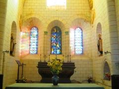Eglise - Français:   Intérieur (milieu, au fond) de l\'église Saint-Blaise-et-Saint-Véran de Saint-Vérain.