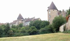 Remparts romains -  Remparts gallo-romain, Autun, Bourgogne, FRANCE