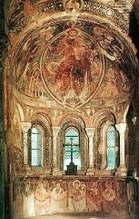 Château des Moines de Cluny -  Berzé-la-Ville, Fresken in der Chapelle des Moines