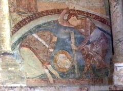 Château des Moines de Cluny -  Berzé-la-Ville, Fresko in der Chapelle des Moines: Enthauptung des hl. Blasius