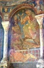 Château des Moines de Cluny -  Berzé-la-Ville, Fresko in der Chapelle des Moines: Märtyrer