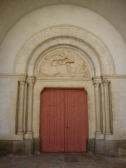 Eglise -  Buxy (Saône-et-Loire) church Saint-Germain, portal.