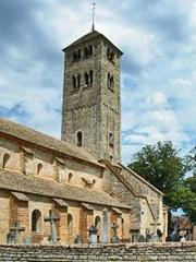 Eglise Saint-Martin - Deutsch: St-Martin de Chapaize, von SW