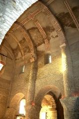 Eglise Saint-Martin -  Nef de l'église Saint-Martin, Chapaize, Saône et Loire, Bourgogne, France
