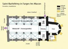 Eglise - Deutsch: St-Barthélémy,_Farges,_Grundriss