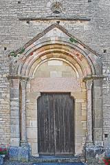 Eglise - Deutsch: St-Bathélémy, Farges, Hauptportal