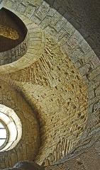 Eglise - Deutsch: St-Bathélémy, Farges, Kreuzgratgewölbe im Seiternschiff