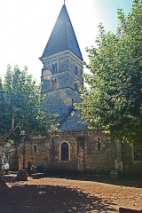 Eglise - Deutsch: St-Bathélémy, Farges, Nordseite mit Turm