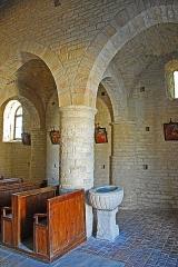 Eglise - Deutsch: St-Bathélémy,_Farges,_Scheidewand_auf_Pfeiler.