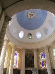 Eglise Saints-Pierre-et-Paul - Français:   Coupole du choeur de l\'église de Givry