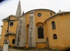 Eglise Saints-Pierre-et-Paul - Français:   Vue extérieure de l\'église de Givry (de la sacristie à la flèche du clocher