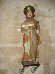 Eglise - English: Statue St.Jacques le Majeur à Issy-l'Évêque.