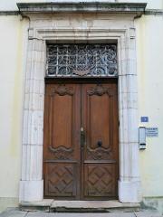 Hôtel de Lamartine - Français:   Mâcon - Hôtel de Lamartine - Porte