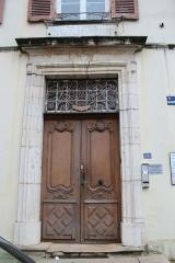 Hôtel de Lamartine - Français:   Porte d\'entrée de l\'hôtel de Lamartine à Mâcon.