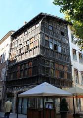Immeuble dit La maison de Bois - Français:   Mâcon, Saône-et-Loire, Bourgogne, France