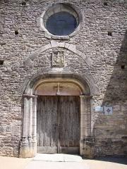 Eglise de Touches - English: Touches (Mercurey, Saône-et-Loire, Fr) portail église St Symphorien, 13e siecle, monument historique.