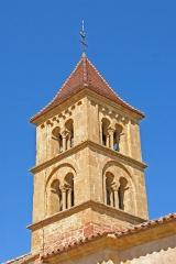 Eglise Saint-Pierre Saint-Paul - Deutsch: Sts-Pierre-et-Paul de Montceaux-l'Étoile, Glockenturm von SO