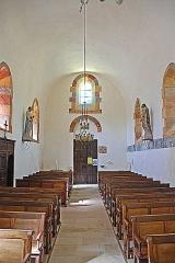 Eglise Saint-Pierre Saint-Paul - Deutsch: Sts-Pierre-et-Paul de Montceaux-l'Étoile, Schiff nach hinten