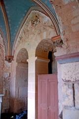 Eglise Saint-Pierre et Saint-Benoît - Deutsch: Prioratskirche, nordwestl. Chorseitenschiff, Chorwand