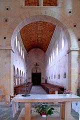 Eglise Saint-Pierre et Saint-Benoît - Deutsch: Prioratskirche, Langhaus aus Vierung
