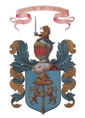 Château de Terrans - English: Coat of arms of the Truchis family