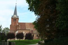 Eglise - Deutsch: Pierre-de-Bresse Kirche von Westen