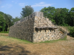 Oppidum du Mont-Beuvray, dit aussi oppidum de Bibracte (également sur commune de Glux-en-Glenne, dans la Nièvre) -  Porte du Rebout, oppidum de Bibracte, France.