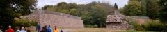 Oppidum du Mont-Beuvray, dit aussi oppidum de Bibracte (également sur commune de Glux-en-Glenne, dans la Nièvre) -  Bibracte muur Wall of Bibracte