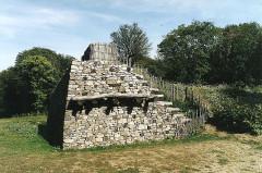 Oppidum du Mont-Beuvray, dit aussi oppidum de Bibracte (également sur commune de Glux-en-Glenne, dans la Nièvre) - Deutsch: Bibracte, murus gallikus,