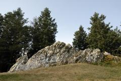 Oppidum du Mont-Beuvray, dit aussi oppidum de Bibracte (également sur commune de Glux-en-Glenne, dans la Nièvre) - English: La pierre de la Wivre, on Mount Beuvray, site of the former Gallic capital Bibracte. Nièvre and Saône-et-Loire, Burgundy, France.