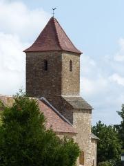 Eglise - Français:   Église de Saint-Maurice-des-Champs. Le clocher.