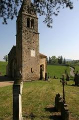 Eglise -  Choeur et clocher de la chapelle du cimetière de Saint-Maurice-lès-Châteauneuf