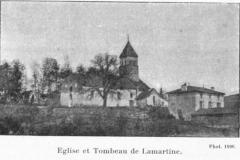 Eglise et tombeau de Lamartine - Français:   Saint-Point, église et tombeau de Lamartine photo 1890