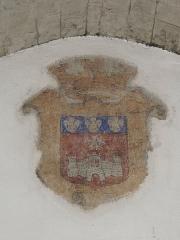 Eglise Saint-Valérien - English:   Coats of arms of the town of Tournus (Saône-et-Loire, France) inside the church Saint-Valerien.