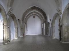 Eglise Saint-Valérien - English:   Interior of the church Saint-Valerien in Tournus (Saône-et-Loire, France). The church is now an exposition hall.