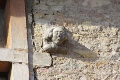 Maison dite de l'Escargot -  Détail de la façade de la Maison de l'Escargot à Tournus (Saône-et-Loire, France)