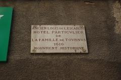 Maison dite de l'Escargot -  Plaque de la Maison de l'Escargot à Tournus (Saône-et-Loire, France)