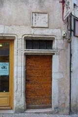Maison -  Porte de la Maison aux Chimères de Tournus (Saône-et-Loire, France)